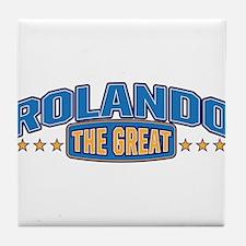 The Great Rolando Tile Coaster