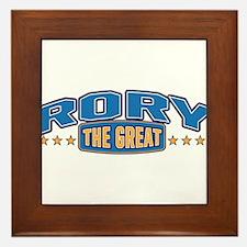 The Great Rory Framed Tile