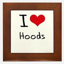 I Love Hoods Framed Tile