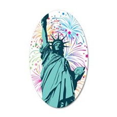 Lady Liberty Fireworks Wall Decal