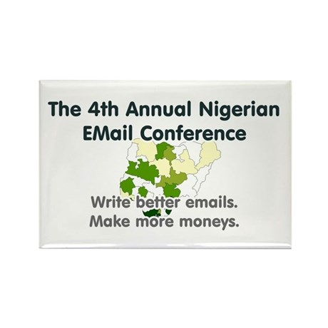 4th Annual Nigerian Email Con Rectangle Magnet (10