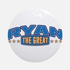 The Great Ryan Ornament (Round)