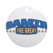 The Great Samir Ornament (Round)