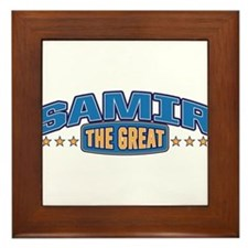 The Great Samir Framed Tile