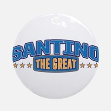The Great Santino Ornament (Round)