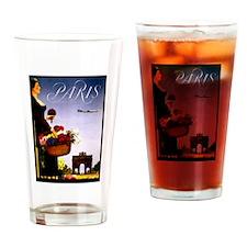 Vintage Paris France Travel Drinking Glass