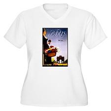 Vintage Paris France Travel Plus Size T-Shirt