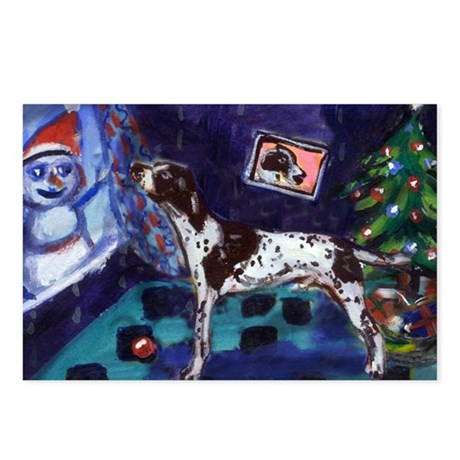 POINTER xmas snowman Postcards (Package of 8)
