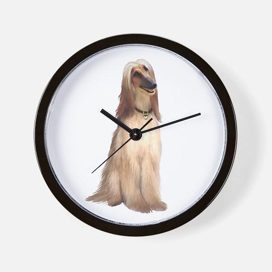 Afghan Hound #1 Wall Clock