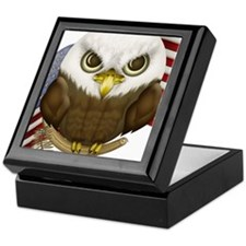 Cute Bald Eagle Keepsake Box