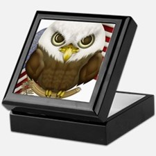 Cute Bald Eagle Keepsake Box