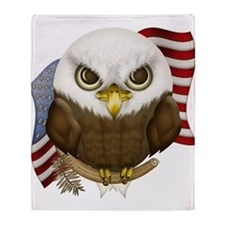 Cute Bald Eagle Throw Blanket