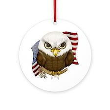 Cute Bald Eagle Ornament (Round)