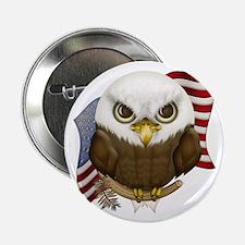 "Cute Bald Eagle 2.25"" Button"