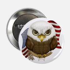 "Cute Bald Eagle 2.25"" Button (10 pack)"