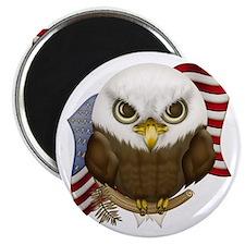 "Cute Bald Eagle 2.25"" Magnet (10 pack)"