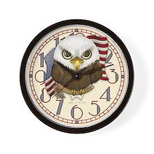 Cute Bald Eagle Wall Clock