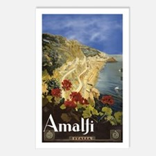 Vintage Amalfi Italy Travel Postcards (Package of