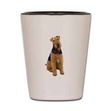 Airedale #1 - sit Shot Glass