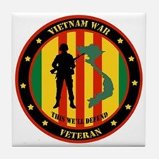 Vietnam War Veteran - This Well Defend Patch Tile