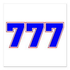 "777 GOD Square Car Magnet 3"" x 3"""