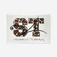 ST Camo Giraffe Rectangle Magnet (100 pack)