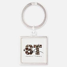 ST Camo Giraffe Square Keychain