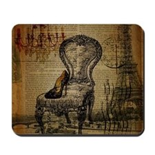 Vintage Paris Scripts Mousepad