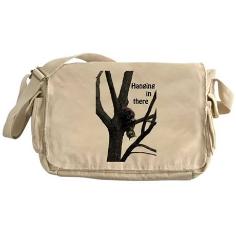 Hanging in There Cat Messenger Bag