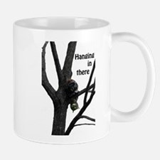 Hanging in There Cat Mug
