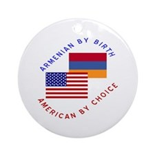 Armenia Birth USA Choice Ornament (Round)