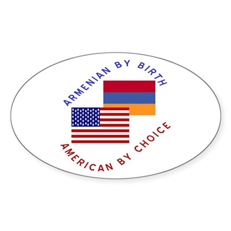Armenia Birth USA Choice Oval Sticker