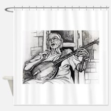 Sweet Old Banjo Shower Curtain