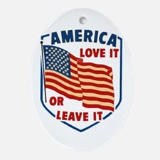 America Love it Ornament (Oval)