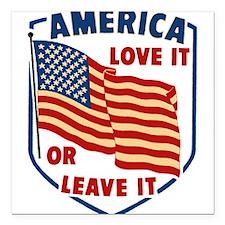 "America Love it Square Car Magnet 3"" x 3"""