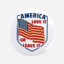 """America Love it 3.5"""" Button"""