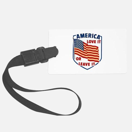 America Love it Luggage Tag