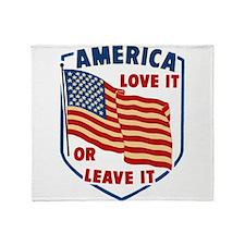 America Love it Throw Blanket