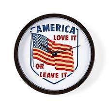 America Love it Wall Clock