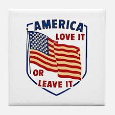 America Love it Tile Coaster