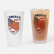 America Love it Drinking Glass