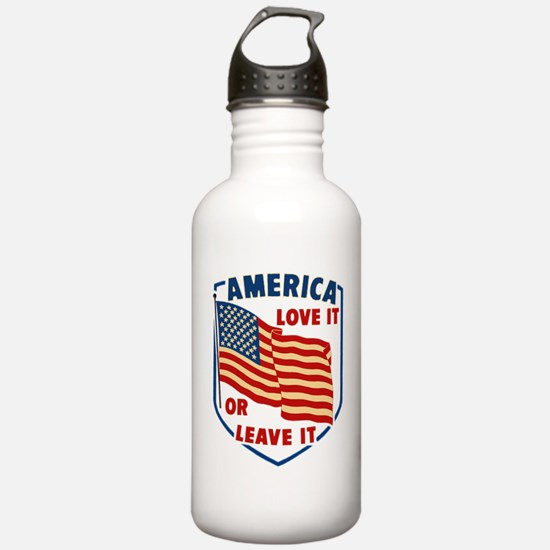 America Love it Water Bottle