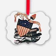 Vintage American Shield Ornament