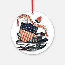 Vintage American Shield Ornament (Round)
