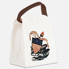 Vintage American Shield Canvas Lunch Bag