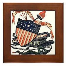 Vintage American Shield Framed Tile