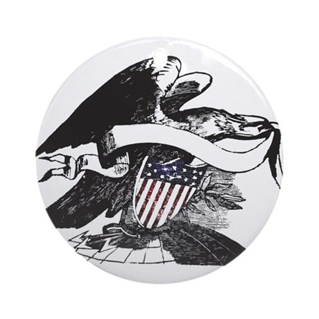 bw eagle.png Ornament (Round)