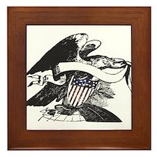 bw eagle.png Framed Tile