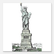 """Statue of Liberty Square Car Magnet 3"""" x 3"""""""