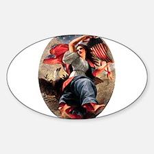Lady Liberty Sticker (Oval)